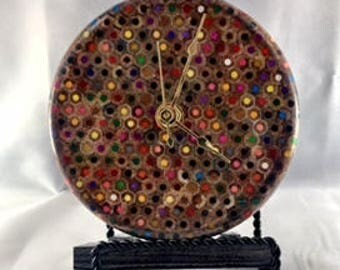 Colored Pencil Clock