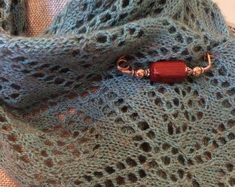 Copper Shawl Pin