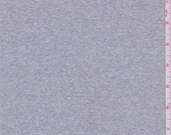 Light Heather Grey Thermal Knit, Fabric By The Yard