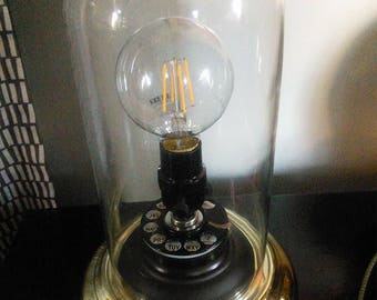 Steampunk Dome Telephone Dial Lamp