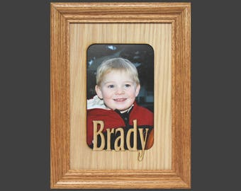 5x7 Name Frame - Personalized Picture Frame Mat insert for 5x7 Frame (FRAME NOT INCL) - Custom Picture Frame - Gifts for Grandparents