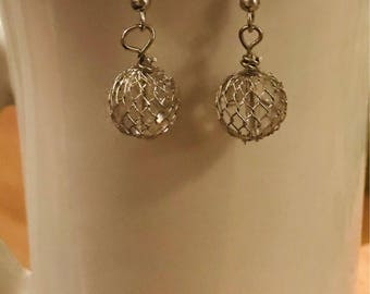 Small Silver Ball Earrings