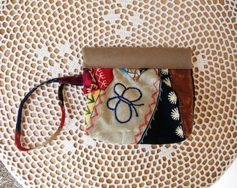 Crazy Patch SNAP BAG WRISTLET Wallet Cell Pouch Wrist Strap Butterfly Star Daisy Kingdom Mini Bag Cosmetic Camera