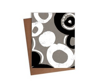 Large Circles Pattern - Blank Card - Digitally Printed A2 Cards w/ envelope
