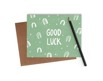 Good Luck Horseshoes Card - Digitally Printed A2 Cards w/ envelope