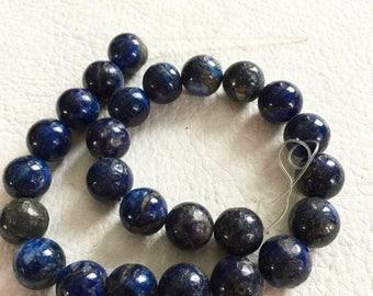 ON SALE 15 percent off Lapis Lazuli Beads, 16 mm, DIY, Craft Supply, Jewelry Making, Metaphysical, New Age, Spiritual, Fashion