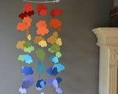 Rainbow Cloud mobile / nursery mobile / baby mobile made in the colors of the rainbow --- Handmade mobile, nursery decor of baby gift