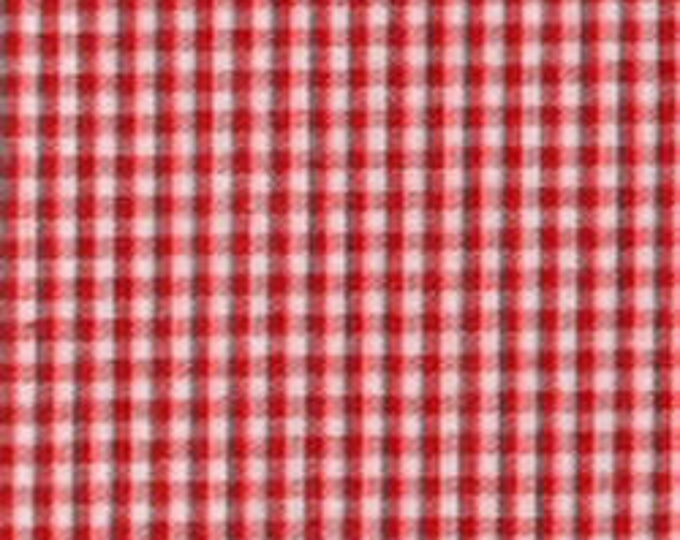 """Gingham/ Red Gingham / Small Gingham / 1/16 Gingham  / by Fabric Finders 60"""" wide"""