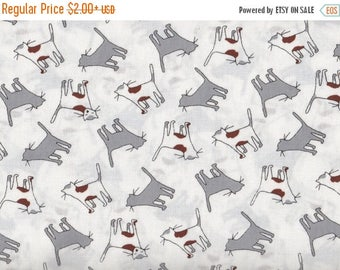 ON SALE Kitty Cats by Timeless Treasures, Gray and White Cat Fabric, Kitty Fabric, Cats Fabric, 01181