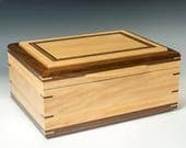 Satinwood and Walnut Jewelry Box