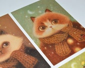 Cozy Cat Postcard Set II