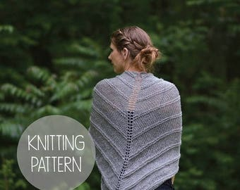 FLASH SALE knitting pattern spring lace shawl - the willow shawl