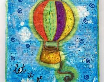 Letting Go Art Work. Mixed media artwork. Original Art for Sale, Original Art Work, Fine Art, Original Painting, Gift Women