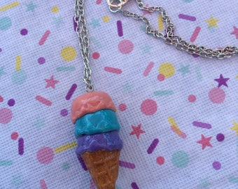 Ice Cream Sherbert Necklace