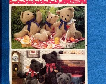 Butterick 5627 Sweet Teddy Bear Sewing Pattern Size 21..23..24 inch Bears