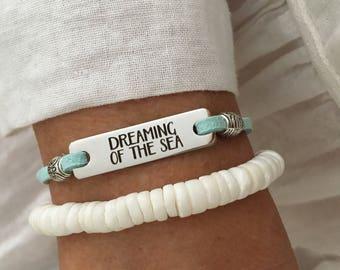 beach bracelet, inspirational jewelry, beach jewelry, friendship bracelet