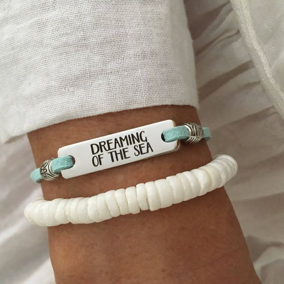 beach  bracelet, beachcomber inspirational jewelry, dreaming of the sea