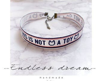 Choker Necklace not a toy cat meow neko Collar Fashion Accessories Jewelry Handmade cutiepie lolita Sweet Cute