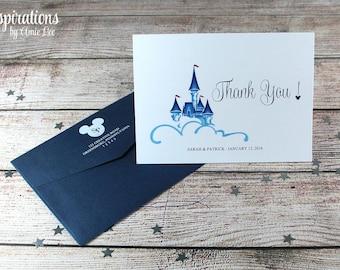 Disney Wedding, Disney Thank You Cards, Thank You Cards