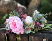Flower Crown, Flower Headband, Flower Headpiece, Festival Crown, Floral Crown, Crowns and Tiaras, Bridal Accessories, Bridal Headpiece.