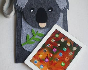 Smoked koala iPad Pro/Tablet/Small pc/Keyboard 30*25 cm felt case