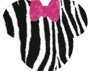 DIY Zebra Minnie applique