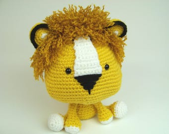 Junior Lion-Crochet Lion-Amigurumi Lion-Crochet Lion Toy- Lion Stuffed Animal-Amigurumi Lion Toy-Crochet Lion Animal-Lion Stuffed Toy