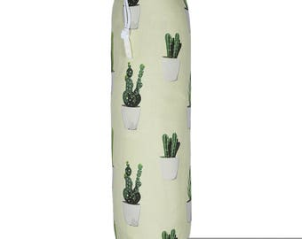 "Exclusive Designer Plastic Carrier Grocery Bag Holder Dispenser - Fish, ""Tropical Collection From Izabela Peters Made in The UK"