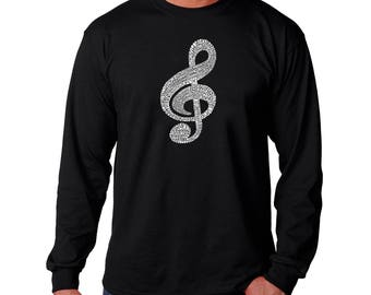 Men's Long Sleeve T-shirt - Created Using a List of the Most Popular Classical Music Composers of All Time Note