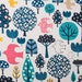 Kawaii Japanese fabric by Cosmo - linen and cotton mix tree - 1/2 YD
