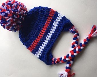 Handmade kids hat toddler cap kids beanie with ear flaps