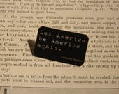 Langston Hughes brooch lapel pin Let America Be America Again