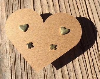 Hearts Set Earrings - Heart Earrings - Mini X Earrings - Heart Earrings - Valentine's Earrings - Luxie Creations Earrings