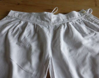 Bloomers, Antique, Crotchless, French, Lace Edged Legs. Circa 1920's