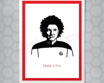 Jean Luc Picard Star Trek All Occasion Funny Illustrated Card