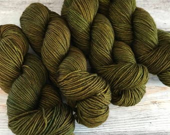 Journey Worsted in Olives by Skeinny Dipping Yarn