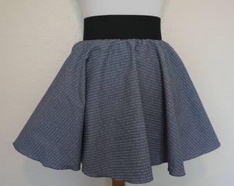Words Skirt, Circle Skirt, Hipster Skirt, Hippie Skirt, Writer Skirt