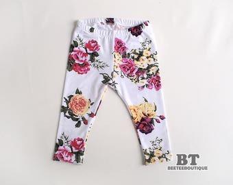 Flower Floral Leggings Pant - Newborn Photography Props