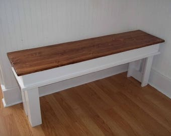 Entryway Bench - Farmhouse entry way bench -