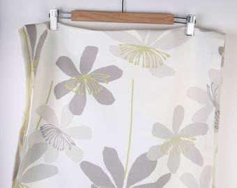 Runner,Table top ,Home decor,natural cotton, leaves and flowers