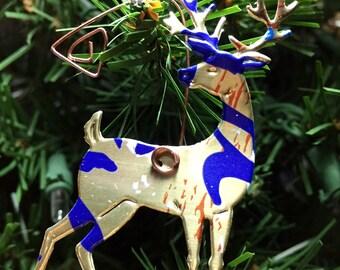 2 La Croix Deer Ornaments-Embellishment-Floral Arrangement Decoration-Wedding Decor-Scrapbook-Ornament Exchange-Upcyled Soda Can
