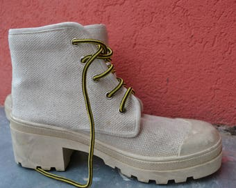 Red Label 90s Chunky Canvas Boots EU 41/42