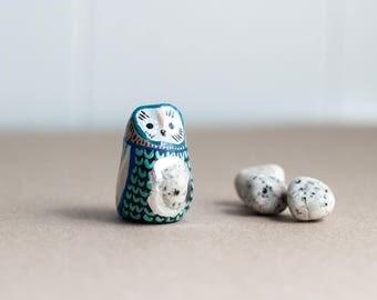 Sacred Owl Totem: Dalmation Jasper