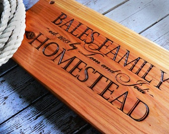 Wood Tree Swing / Personalized Swing / Rustic Outdoor Furniture / Country Housewarming / Realtor Gift / Homestead Gift / Farmhouse Chic Gift