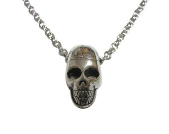 Smooth Skull Pendant Necklace