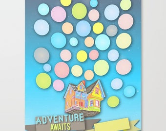 custom wedding guest sign in...Adventure is Out there. write your own date and names. digital download