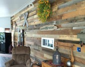 Reclaimed wood  wall - reclaimed wood paneling - reclaimed wood - wall plank - 8.25 per square foot