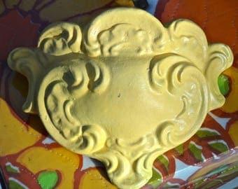 Wall Pocket, Flower Vase, Yellow, Hippie, Wall Vase, Shelf, Wall Hanging, Artsy, Colorful, Boho, Bohemian, Yellow Shelf, CasaKarmaDecor