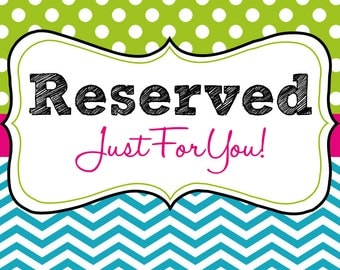 Reserved Listing for Jodie