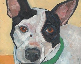 Shelter Dog Original Oil Painting